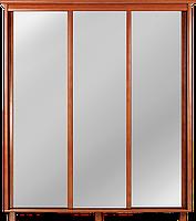 Шкаф-купе глубокий для одежды в спальню, гостинную, прихожую, трехдверный, купе 3Д