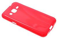 Силиконовый чехол для Samsung J200 (J2) красный New Line (Bloody Mary)