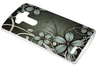 Силиконовый чехол для LG G4 Dark Flowers Diamond