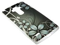Силиконовый чехол для LG G4 Stylus/H630 Dark Flowers Diamond