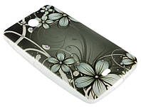 Силиконовый чехол для Nokia 430 Dark Flowers Diamond