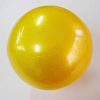 Мяч Tuloni глиттер 18 см Gold Art. T0115