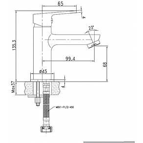 Imprese LASKA cмеситель для раковины , белый, 35 мм, фото 2