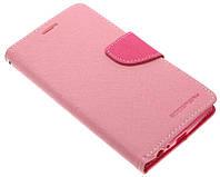 Чехол-книжка для LG G4 розовая Goospery