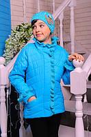 Демисезонная куртка с шапочкой для девочек (разные цвета)