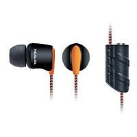 Наушники REAL-EL  Z-1700 черно-оранжевые для плеера, дополнительный рвзъем 3,5мм