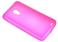 Силиконовый чехол для Meizu MX3 розовый