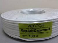 3808     Кабель VECTOR  8/0,2 без зкрана