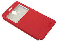 Чехол-книжка для Lenovo A5000 красная с окошком Ulike