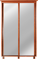 Шкаф-купе 219x52x142 см для одежды в спальню, гостинную, прихожую, двухдверный