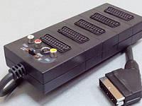 41143     Штекер Скарт - 5 гнезда Скарт + 3 гнезда RCA+S-VHS с кабелем