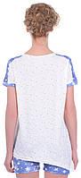 Комплект одежды жен. USA бежевий L (футболка+капри)