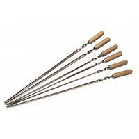 Шампур  нержавейка плоский с деревянной ручкой  600х10х2,0 мм