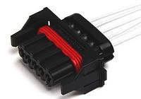 Разъем герметичный датчика массы расхода воздуха с проводами (Siemens)(пр-во КПКЗ)