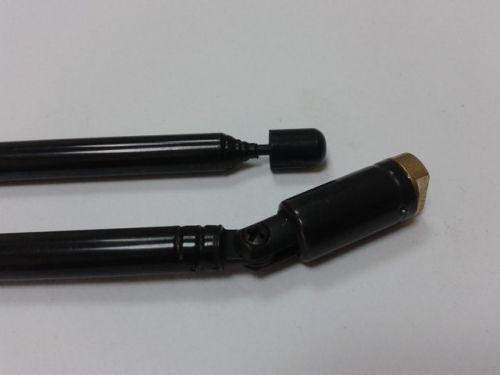 Антенна металлическая телескопическая black