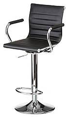 Барное кресло для кафе, бара. арт-кухни BAR plate черный