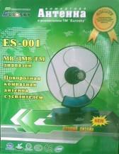 Антенна комнатная EUROSKY 001  МВ + ДМВ  . код - 2040