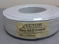 Кабель сигнальный Vector 4x0.22 в экране