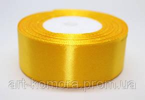 Лента атласная 2,5 см, желтая №132