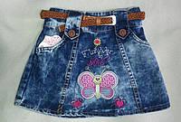 Детская джинсовая юбка для девочек 4-7 лет