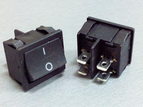 Перемикач ON-OFF широкий (6A 250VAC) DPST 4P, чорний MRS-201