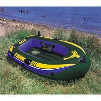 Лодка надувная Intex 2х местная + Комплект 68347