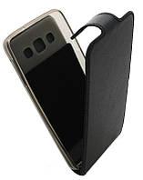 Чехол-книжка для Samsung A300(A3) B45 Classic черная кожа с силиконом
