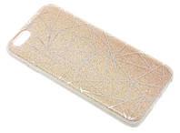 Силиконовый чехол для iPhone 6/6S золотистый Diamond Magic