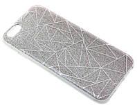 Силиконовый чехол для iPhone 6/6S серый Diamond Magic