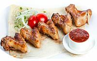 Шашлык с курицы (крыло)