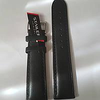 Кожаный ремень Stailer -чёрный, гладкий ремень