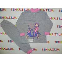 Детская пижама на девочку с рисунком 34 размер.