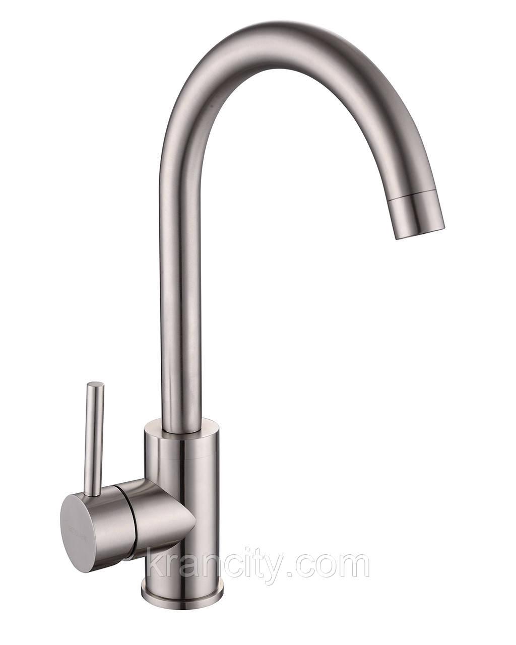 LOTTA cмеситель для кухни однорычажный, сталь, IMPRESE 55401-SS