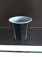 Одноразовый стакан двухцветый 170 мл черно-белый полипропиленовый