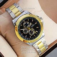 Наручные часы Rolex Quartz 030G Silver-gold/Black