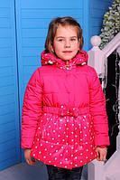 Детская демисезонная курточка на флисе для девочки Бусинка