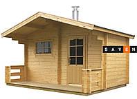 Отдельная сауна домик KEITELE с дров.каменкой Harvia 20PRO+дымоход 2500мм