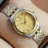 Наручные часы Rolex Quartz 012G crystal Silver-gold/Gold