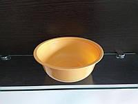 Тарелка миска суповая одноразовая 850 мл оранжевая полипропиленовая