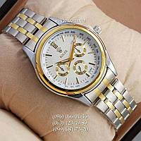 Наручные часы Rolex Quartz 009 Silver-gold/White