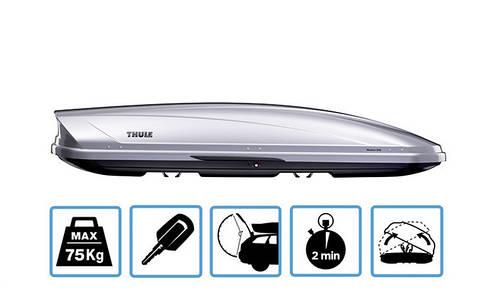 Бокс Thule Motion 600 серый металлик 190х67х42 см (двухсторонний), фото 2