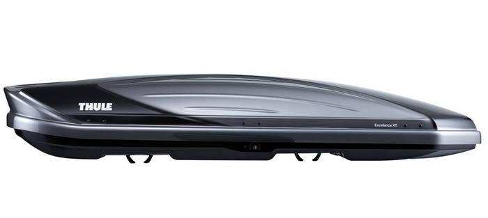 Бокс Thule Excellence Титановый металлик,глянцевый черный (двухсторонний), фото 2