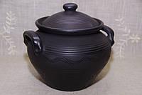 """Супниця глиняна """"Чорна кераміка"""" ручна робота 3,5 л, фото 1"""