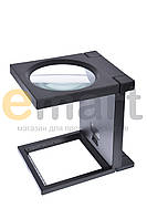 Лупа настольная с LED подсветкой, 3X увеличение, диаметр 110 мм Magnifier 14116-А
