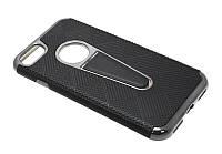 Силиконовый чехол для iPhone 7 с подставкой black