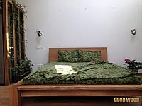 Кровать деревянная Кр-1, (2260*2060*800,матрас 2000*1800)