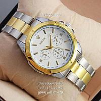 Наручные часы Rolex Quartz 003 Silver-gold/White
