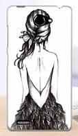 Силиконовый чехол для Lenovo A816 A768 с рисунком девушка спиной