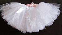 Белая юбка туту   для девочки