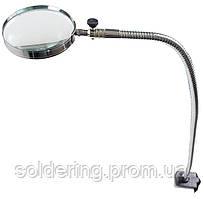 Настольная лупа со струбциной, увеличение 2.5X, диаметр 100 мм Magnifier 15123